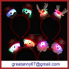 yiwu agent christmas decoration items novelty led flashing reindeer antlers headbands