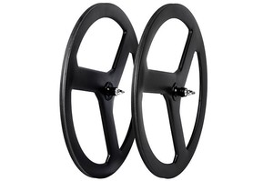 Three spokes bike wheel ,lightweight carbon fiber tri spoke wheelset 750g
