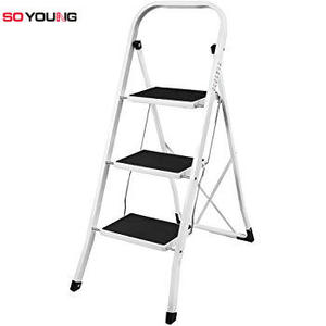 EN131 certificate stainless steel 3steps household ladder