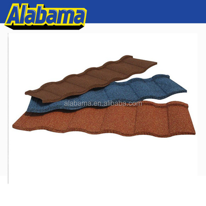Diversified Colors hot sale sheet roofing stone coated roof tile, sand coated metal roofing sheet building material in nigeria