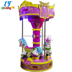 New arrival 4 seat kids carousel rides game machine coin operated kiddie ride for sale