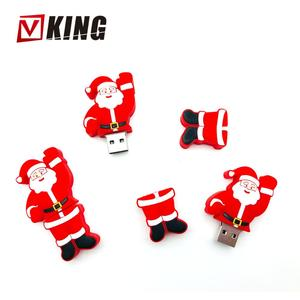 Santa Claus shape Drive Custom 8GB USB Stick Promotional gifts disk 2/4GB