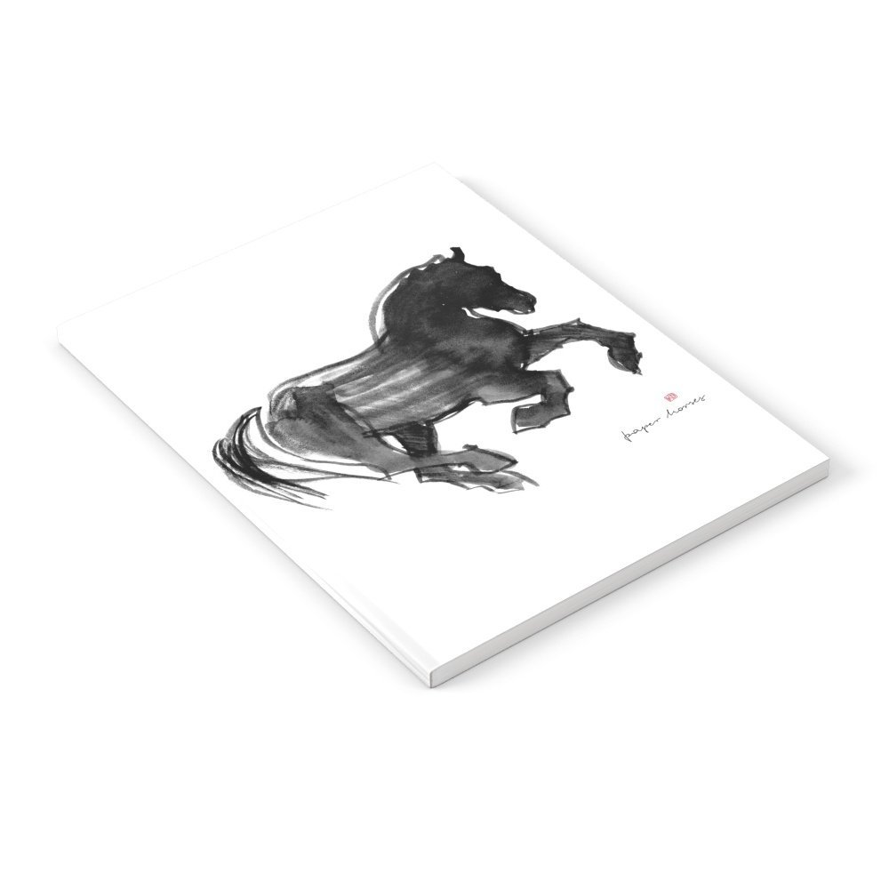 """Society6 Horse (Devil Cantering) Notebook Set of 3 6"""" x 8"""" unlined"""