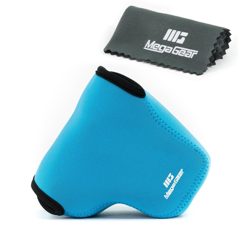 MegaGear ''Ultra Light'' Neoprene Camera Case Bag with Carabiner for Sony Cyber-shot DSC-RX10, Sony Cyber-shot DSC-RX10 II (Blue)