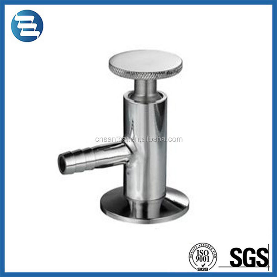 Sanitary Stainless Steel 304 316L Manual Clamp End Sampling Valve