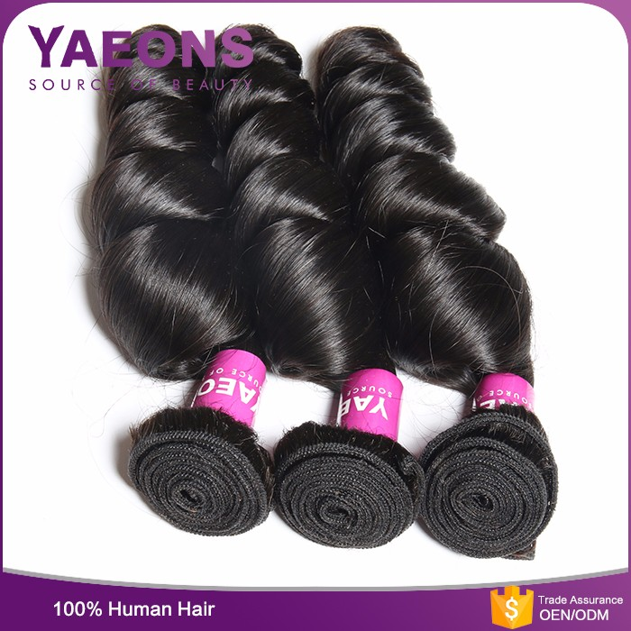 DHL Fedex high quality unprocessed own label hundred percent natural black hair weave