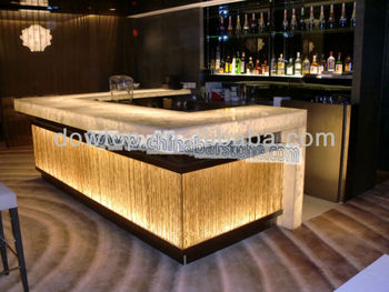 Top quality acrylic marble curved bar counter buy curved for Acrylic bar top