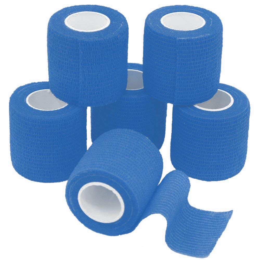 """10-Pack, 2"""" x 5 Yards, Self-Adherent Cohesive Tape, Strong Sports Tape for Wrist, Ankle Sprains & Swelling, Self-Adhesive Bandage Rolls"""