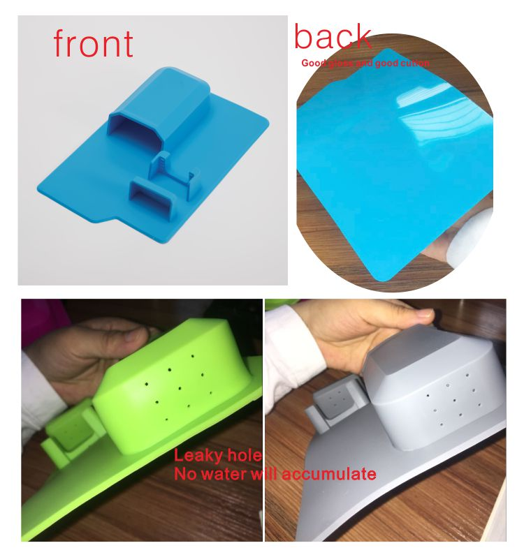 wholesale Bathroom Accessories Wall mounted mighty suction cup silicone toothbrush holder