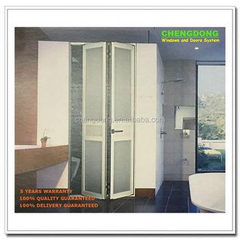 Lujo Aluminio Terraza Con Aislamiento Doble Vidrio Puertas Plegadizas Buy Veranda Bifold Puertas Aluminio Terraza Aislados Puertas