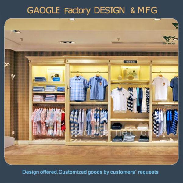 White color wooden material clothes shop interior design - Decoration led interieur ...