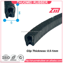 PVC U Gasket Decorative Trim Seal Strip 8x6mm