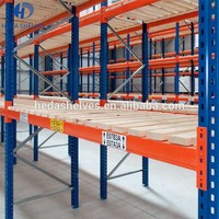 Space saving heavy duty storage adjustable pallet racking system