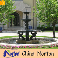 Pop 3 tier cast iron water fountain with base from China NTIF-020Y