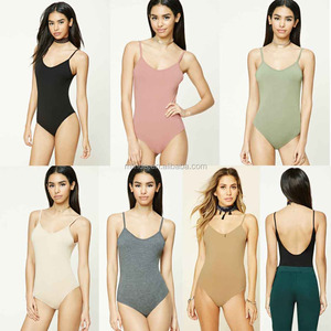 Adult Artistic Gymnastic Leotard Ladies Cami Straps Round O Neck Scoop Back Custom Bodysuits Ballet Leotard