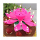 Unique happy birthday singing lotus candle Handmade Cake Candle