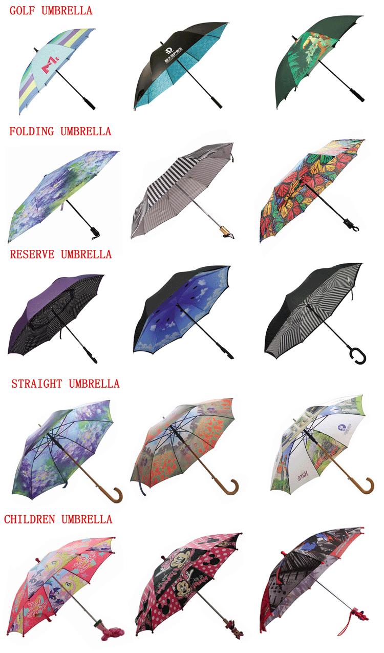 Automático plegable inversa paraguas con impresión de logotipo personalizado