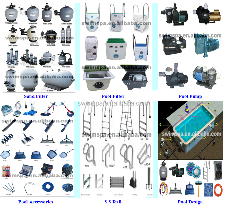 Swimming Pool Equipment Set Sand Filter Pumps Swimming Pool Equipment China Wholesale Supply