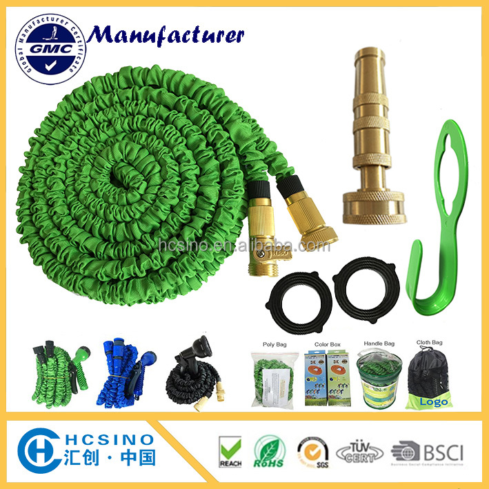 Expandable Water Hoses Solid Brass Fitting & Nozzle No More Leaks or Burst