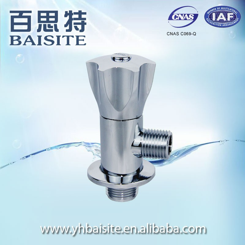 Middle East And European Market Chrome Water Angle Valve Yuhuan Factory For Basin And Bathroom Toilet