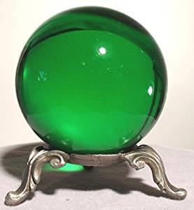 50mm Emerald Crystal Gazing Ball with Stand