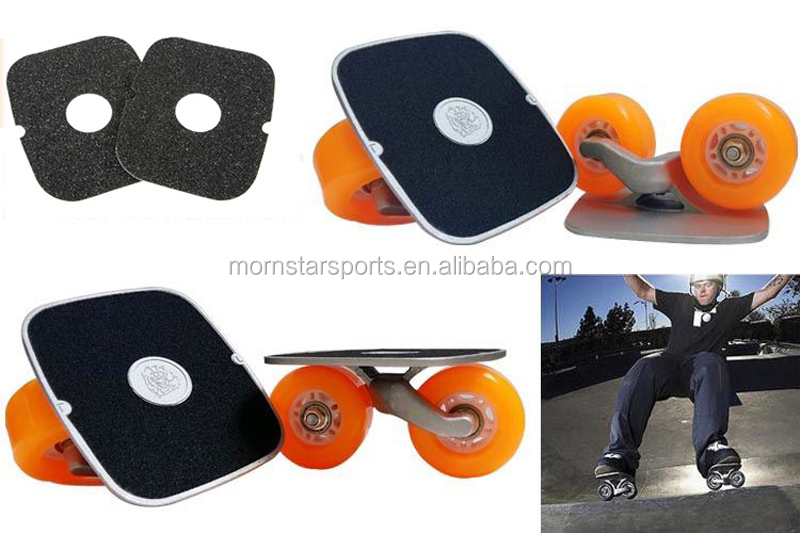Drift Skates Plate Anti-slip Board Aluminum Truck With PU Wheels