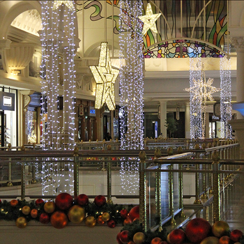 Christmas Commercial Decorations.Commercial Christmas Decorations For Malls Led Light Curtain Strands Warm White Cool White Connectable Hanging Lights Buy Light Curtain
