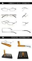 New design durable metal reading glasses frameless