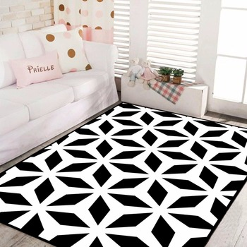 Carpet Tiles Factory Sale High-end Geometry Black White Western Colorful  Decorative Stock Rugs For Living Room Carpet - Buy Carpet,Decorative Paper  ...