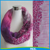 infinity custom made printed polyester scarf