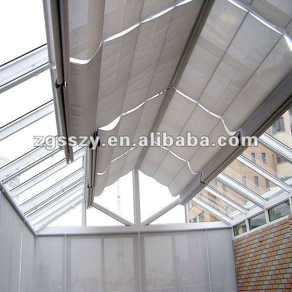 Techos de metal cortina el ctrica persianas cortinas y - Cortinas para tragaluz ...