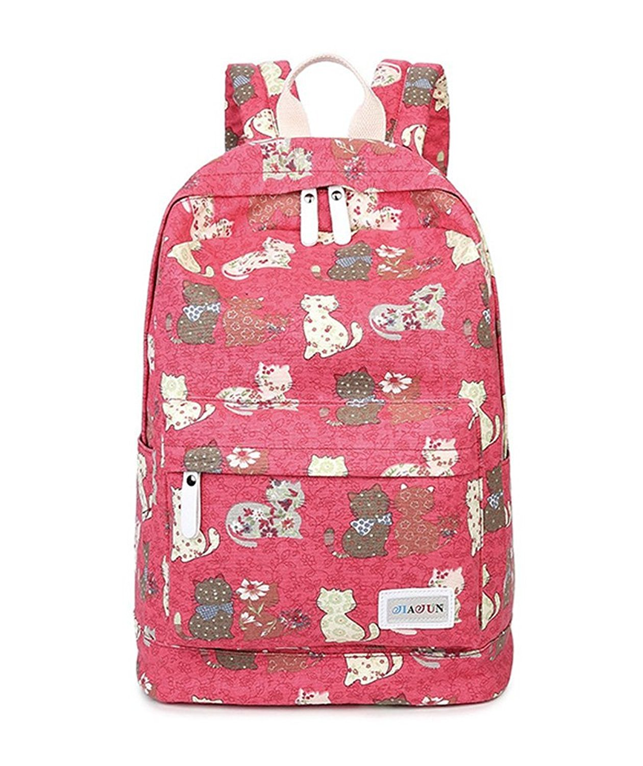 Fueken College Middle School Bags Cute Backpack for Girls Canvas Book Bag 3bbe0d7cf9