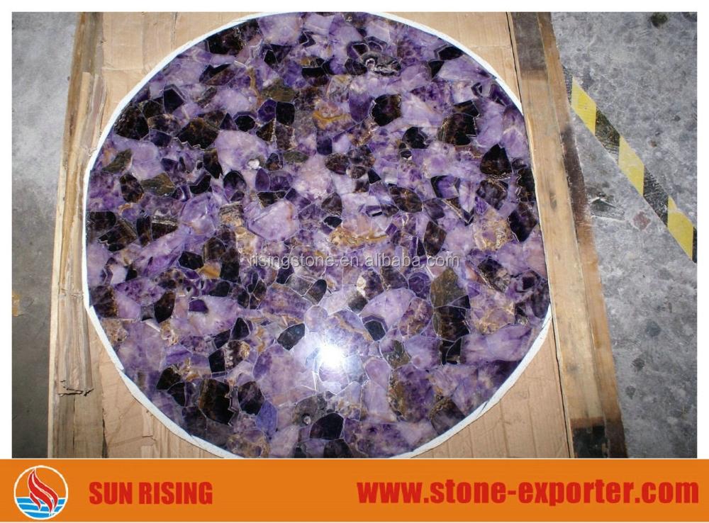 Di lusso puro lucido preziose decorative viola pietra for Piani di lusso personalizzati