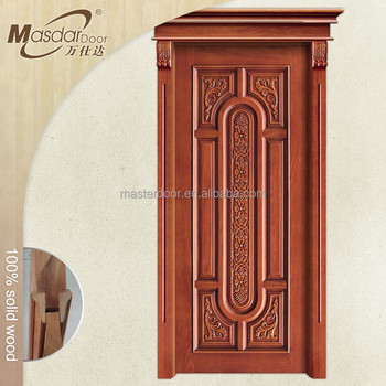 Latest Design 48 Inches Carved Wooden Exterior Doors For Sale In ...