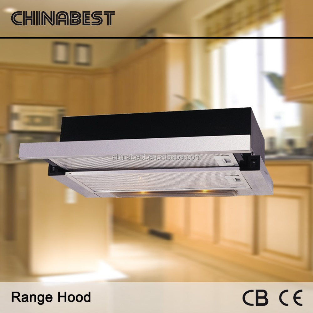 2016 Hot Sale High Quality Slide Out kitchen Cabinet Range Hood with Strong Suction