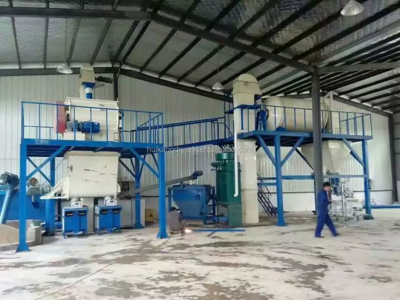 Big output dry mix cement sand mortar blender mixer/ polymer mortar ribbon blender mixer for sale in Thailand