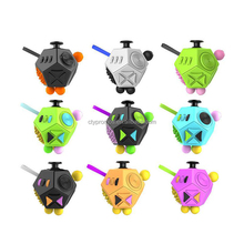 Customized 12 Sides Desk Spin Toy Anti Focus Fidget Spinner Cube For Children And Adult