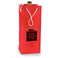 cheap sales high quality paper wine bottle bag, take away fast food paper bag