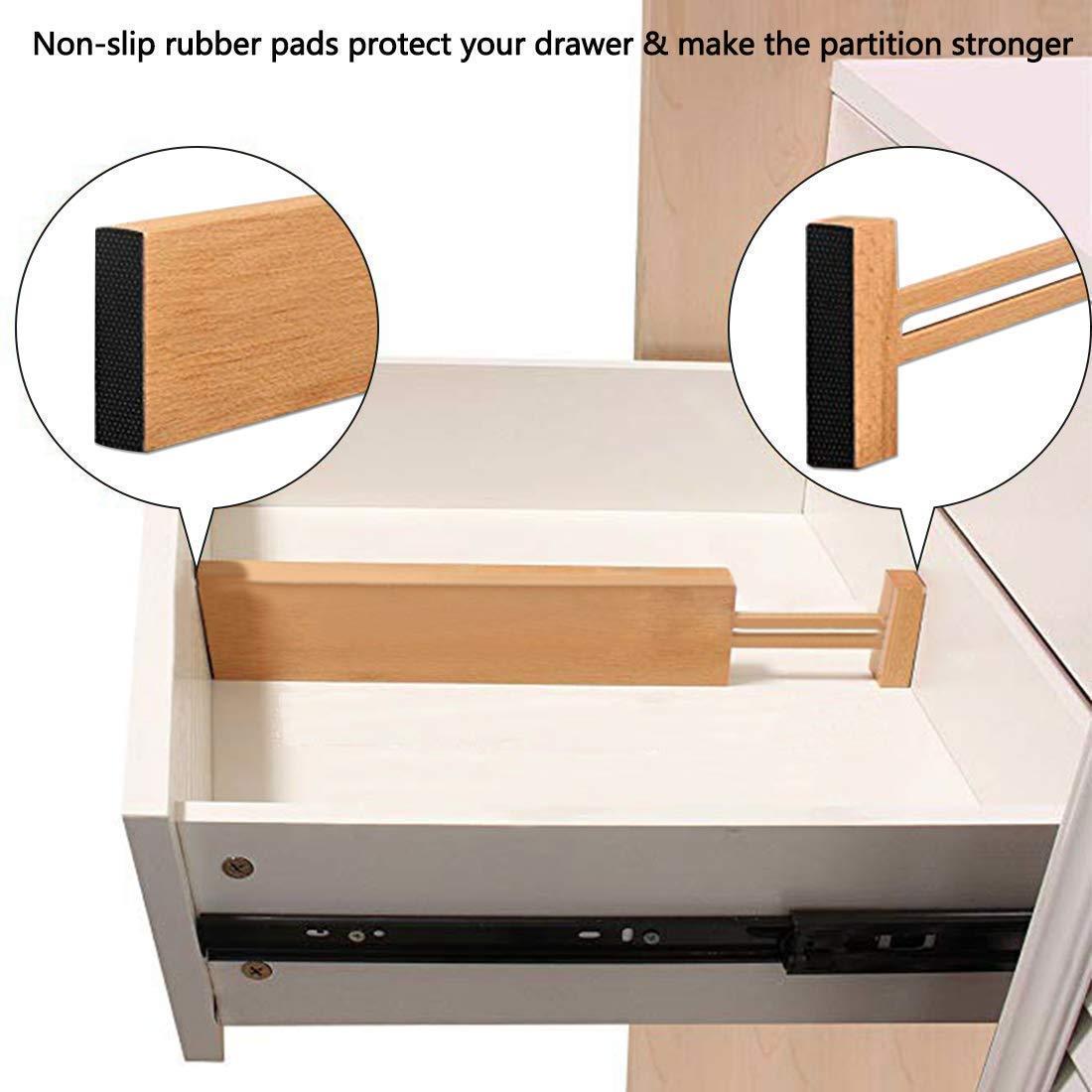 Regolabile Standard Espandibile Posate di Bambù Dell'organizzatore Del Cassetto Divisori