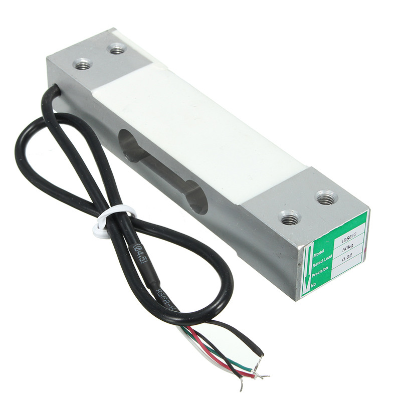 Aluminium Alloy 50kg Waterproof Load Cell Sensor Scale With Shielding Cable Weighing Sensor 130mm x 30mm x 22mm Weighing sensors
