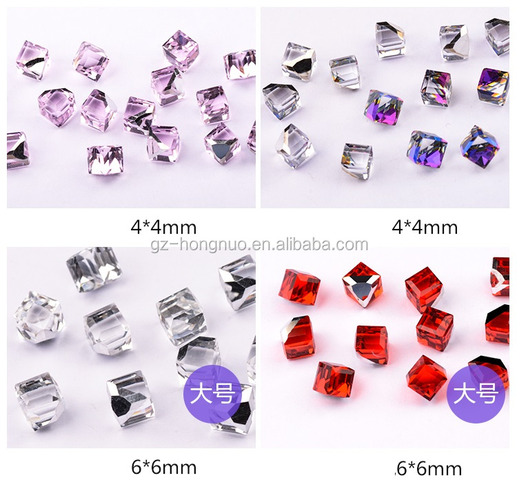 19Styles 3D Metal Nail Art Decorations Crystal Glitter Rhinestone Charms HN1512