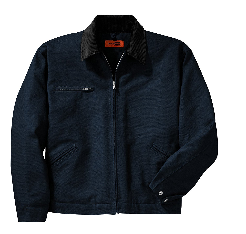Cornerstone Duck Cloth Work Jacket, XS, Navy/Black