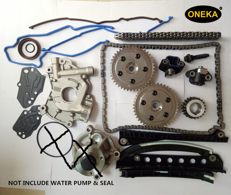 [ONEKA] Untuk 04-08 Ford Lincoln 5.4L 3 V Pompa Minyak Rantai Timing Kit + Cam Phasers + Gasket