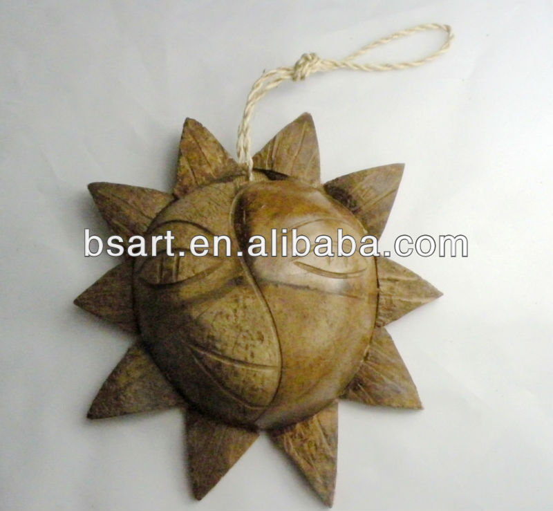 Natural hanging coconut handicraft