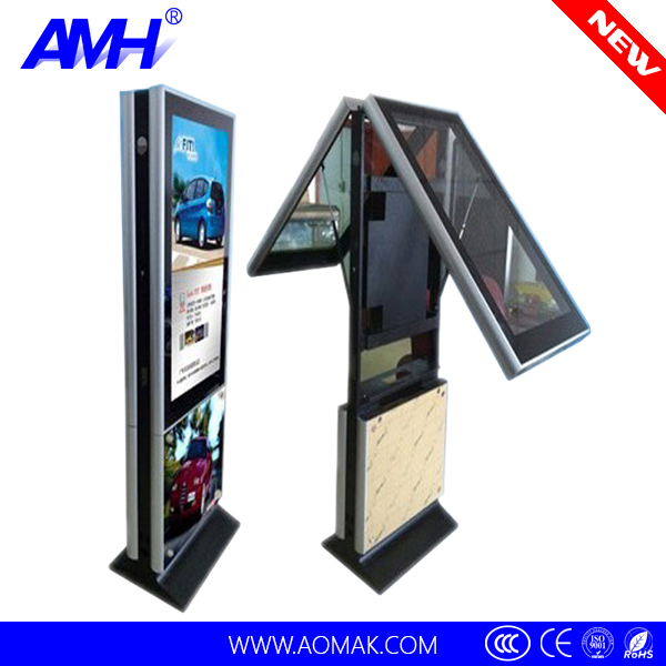 "42""indoor Floor Stand Lcd Touch Screen Digital Advertising Display ..."