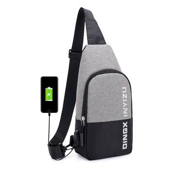 76bf458fd Hombre bolsos de hombro de carga USB bandolera hombre bolsos de hombre  bolsos anti-robo