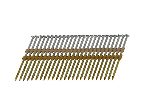 3-1/4 in. x 0.120 in. Full Round-Head Electro galvanized Plastic Strip Framing Nails (4,000-Pack)
