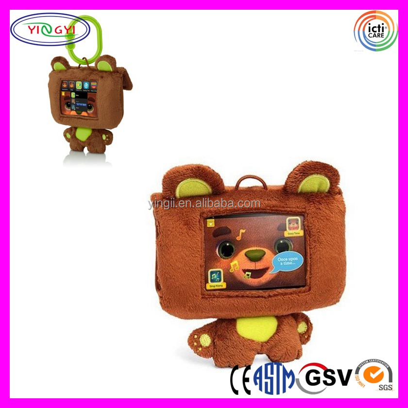 A334 Soft Teddy Bear Mobile Phone Case Bag Plush Phone Case Packaging with Clip