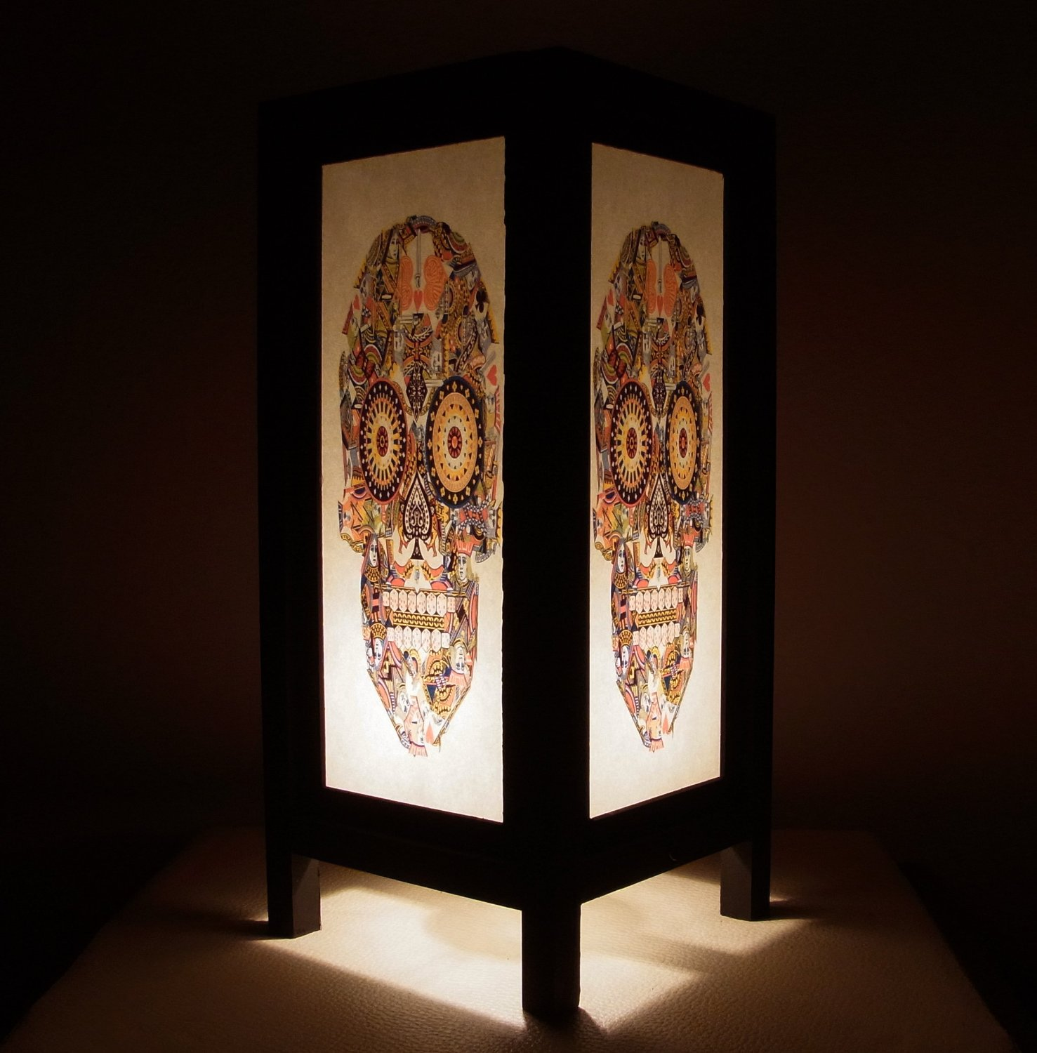 Cheap oriental lamp shades find oriental lamp shades deals on line get quotations thai vintage handmade asian oriental fantasy cards jack queen king skull bedside table light or floor aloadofball Image collections