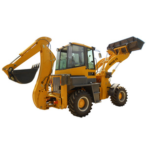 Small wheel excavator mini tractor backhoe loader